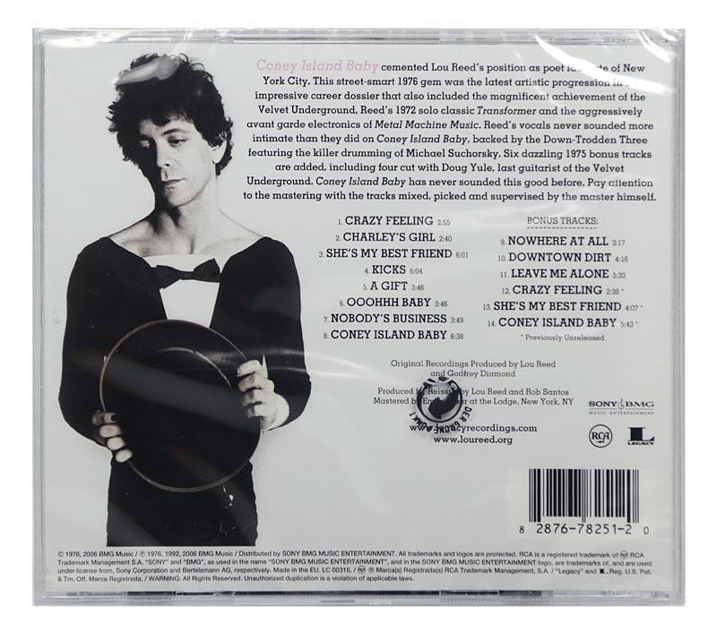 CD Lou Reed - Coney Island Baby - Remastered / Bonus - Importado EU - Lacrado