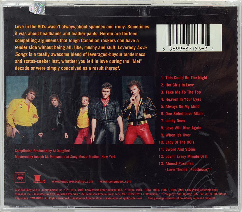 CD Loverboy - Love Songs - Lacrado - Importado