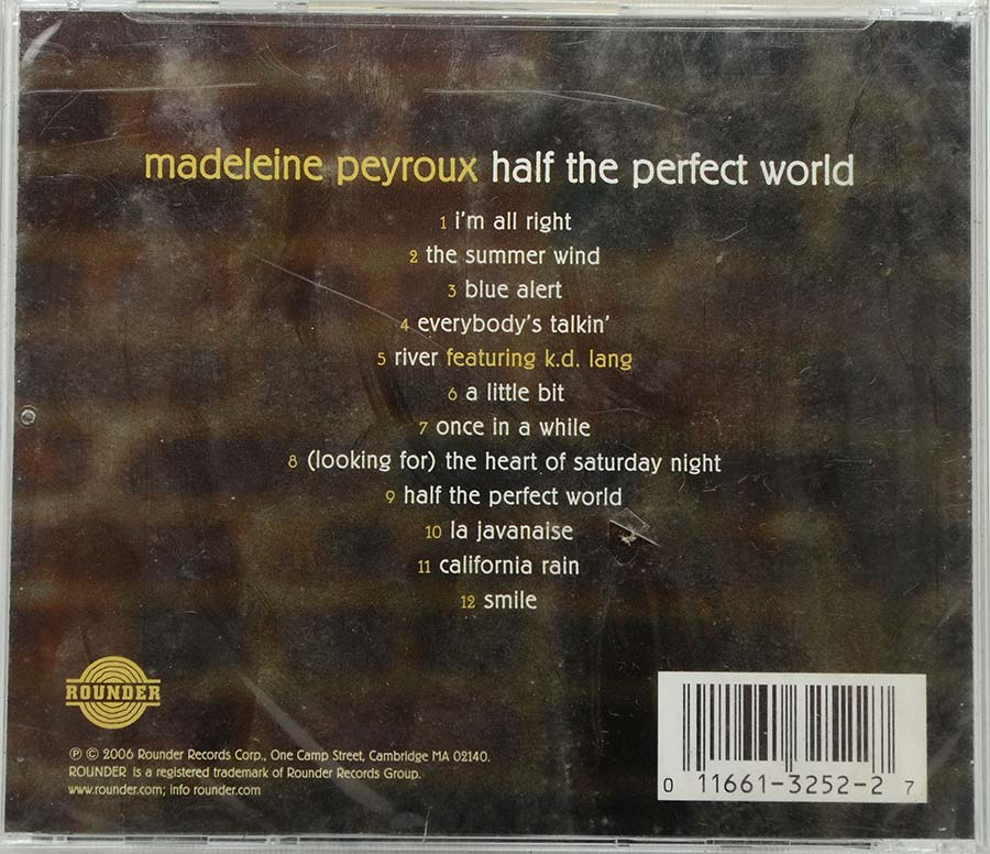 Cd Madeleine Peyroux - Half The Perfect World - Lacrado - Importado