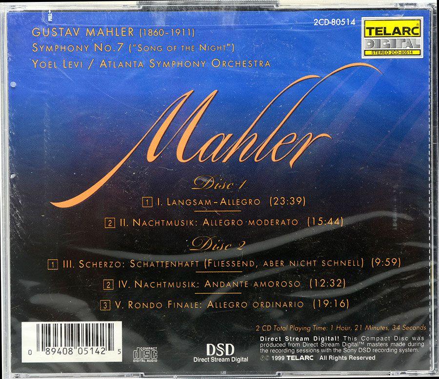 Cd Mahler - Song Of The Night - Symphony 7 - Lacrado - Importado