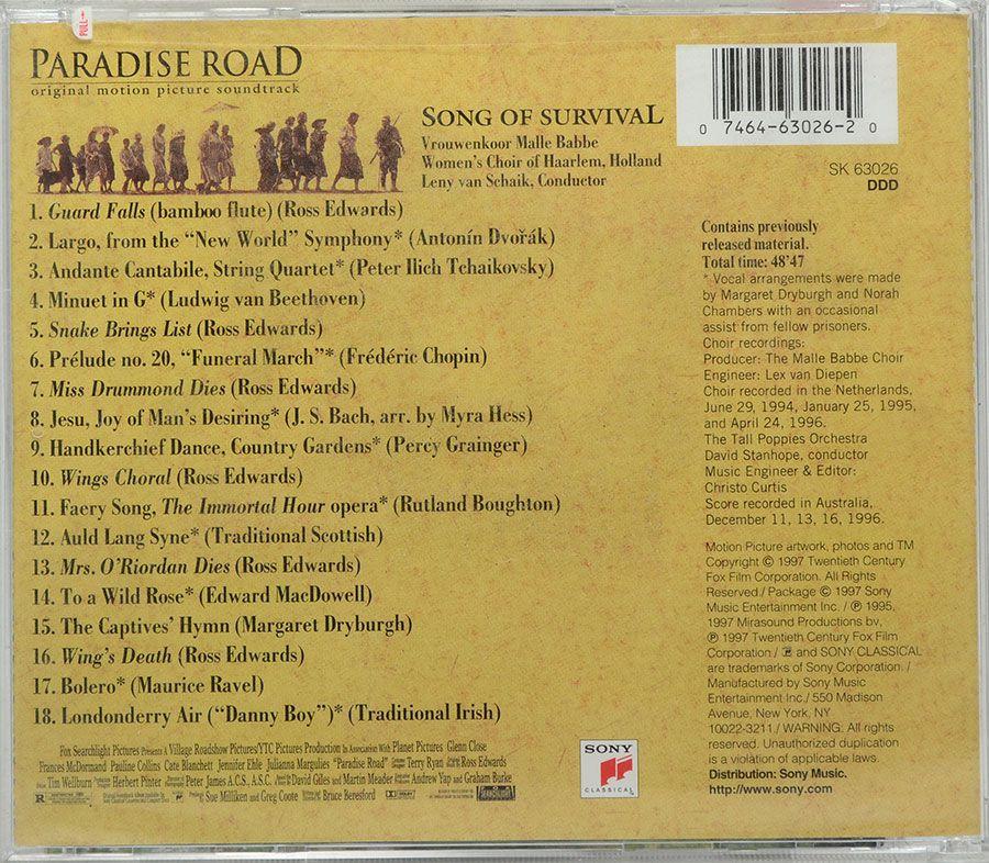 CD Malle Babbe Women's Choir - Paradise Road - Song Of Survival - Lacrado - Importado