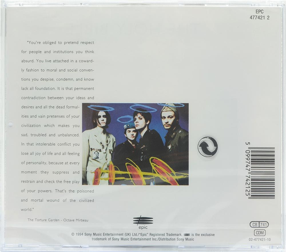 CD Manic Street Preachers - The Holy Bible - Importado - Lacrado