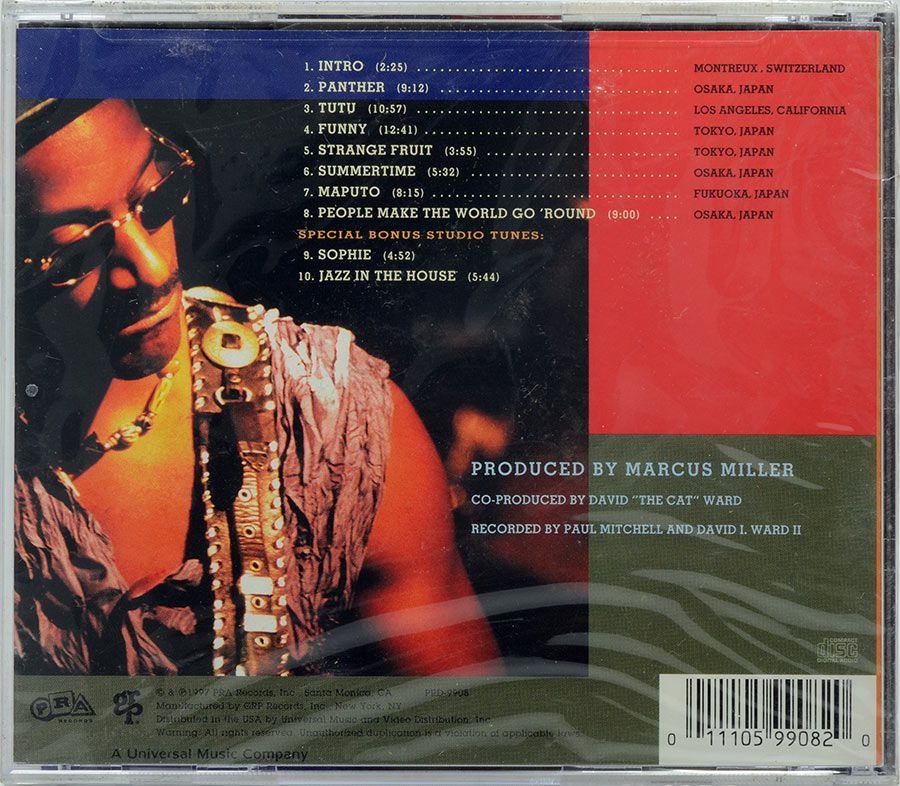 CD Marcus Miller - Live & More - Lacrado - Importado