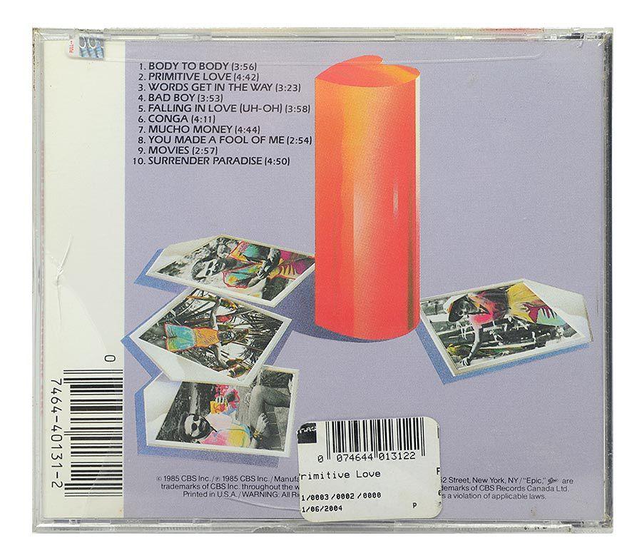 CD Miami Sound Machine - Primitive Love - Importado - Lacrado