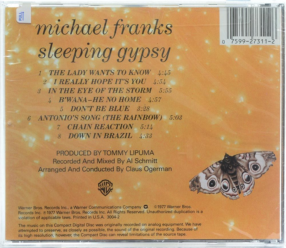 CD Michael Franks - Sleeping Gypsy - Importado - Lacrado