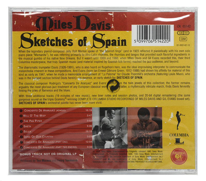 CD Miles Davis - Sketches Of Spain - Importado - Lacrado