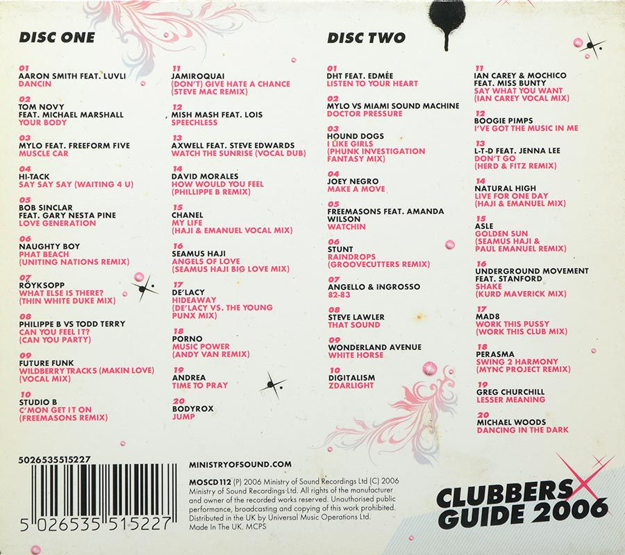 Cd Ministry Of Sound - Clubbers Guide 2006 - Importado