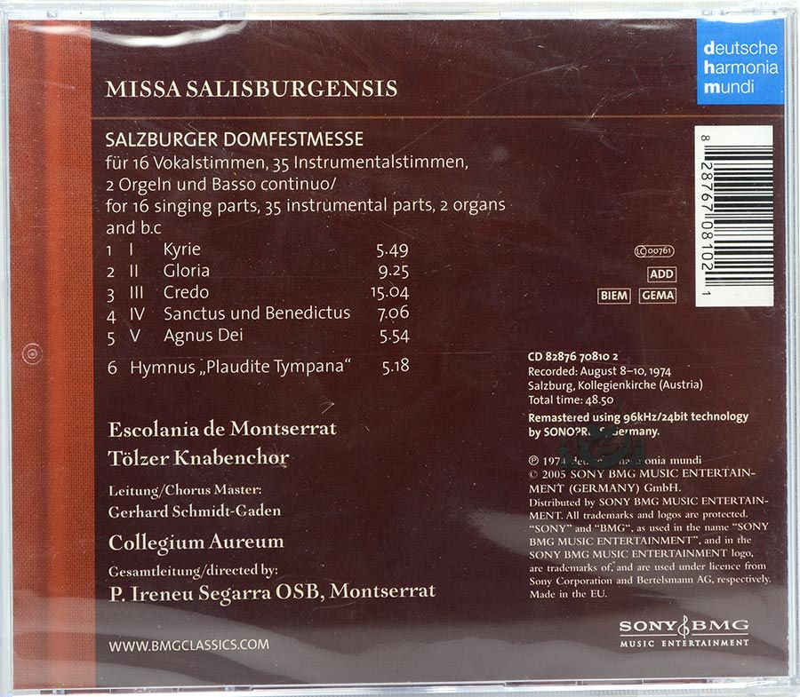 Cd Missa Salisburgensis - Escolania De Montserrat - Lacrado - Importado