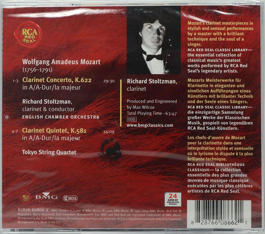 CD Mozart Clarinet Concerto Richard Stoltzman - Lacrado - Importado
