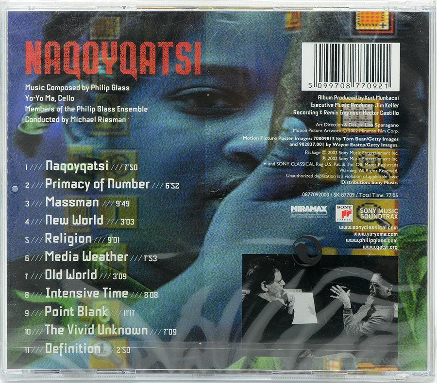 CD Naqoyqatsi - Philip Glass Yo-Yo Ma - Lacrado - Importado