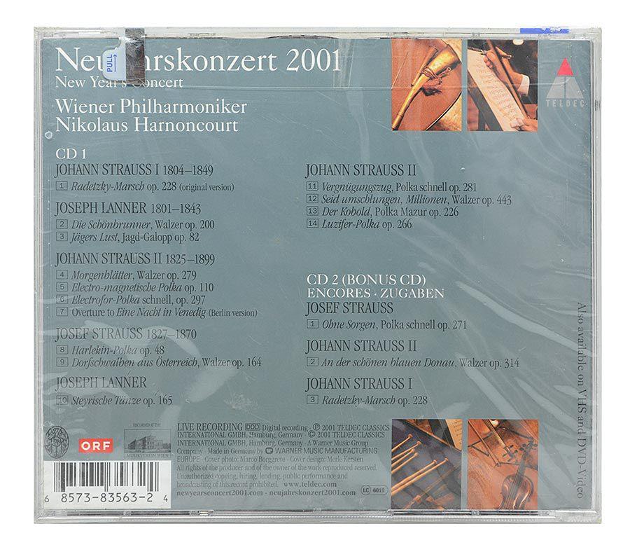 Cd Neujahrskonzert 2001 - Wiener Philharmoniker - Duplo Importado - Lacrado
