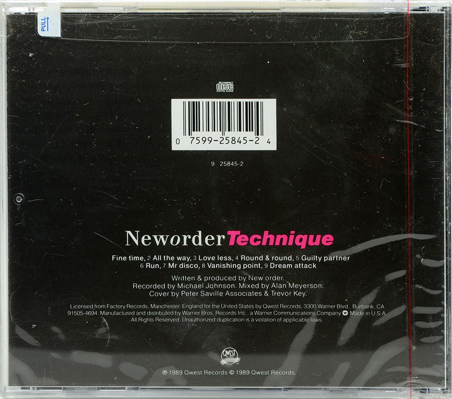 CD New Order - Technique - Lacrado - Importado
