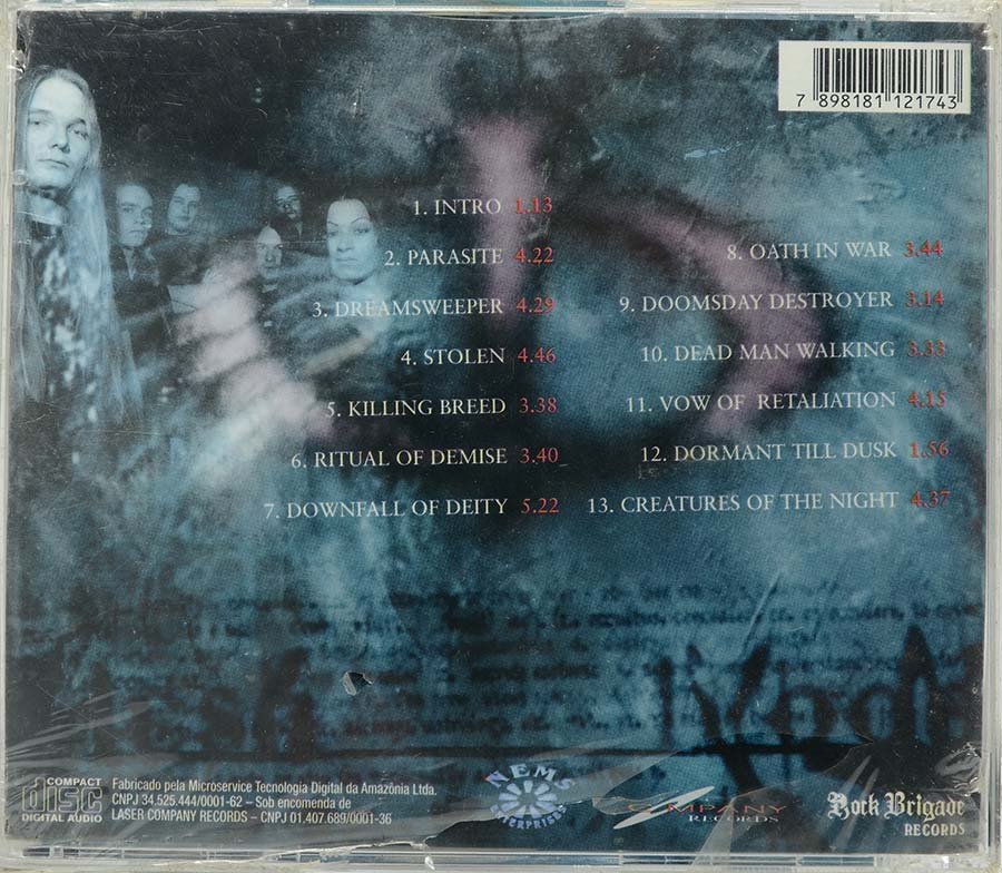 Cd Occult - Of Flesh And Blood - Lacrado - Importado