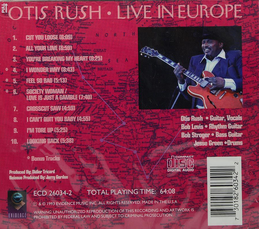 CD Otis Rush - Live In Europe - Lacrado - Importado