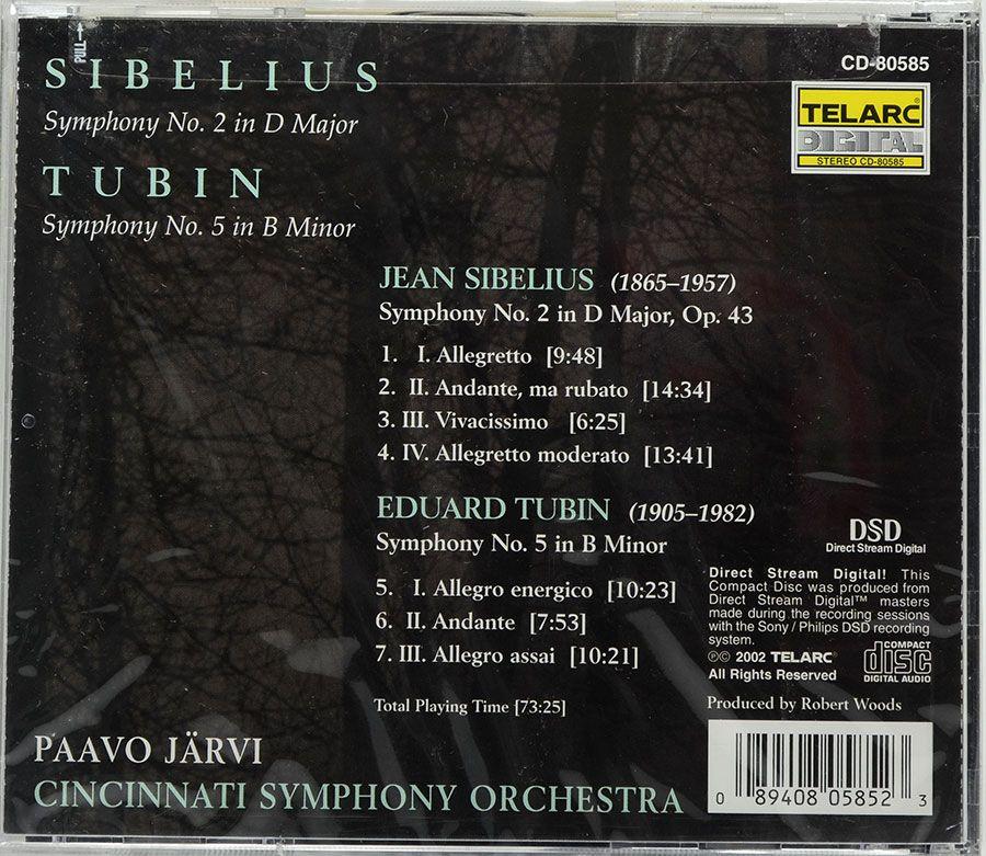 CD Paavo Jarvi - Cincinnati Symphony Orchestra Sibelius Tubin - Lacrado - Importado