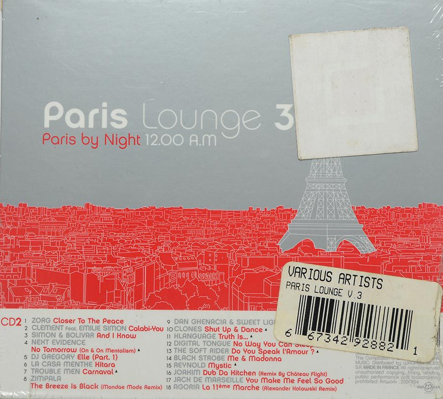 Cd Paris Lounge 3 paris By Day 12.00 P.M - Lacrado - Importado