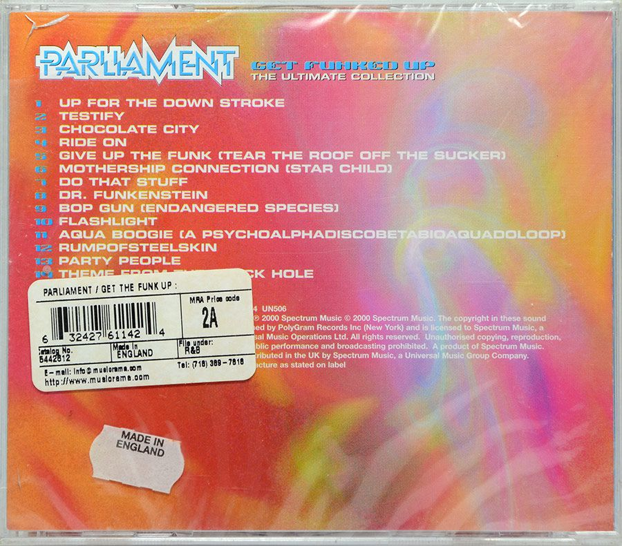 CD Parliament - Get Funked Up - The Ultimate Collection - Lacrado - Importado