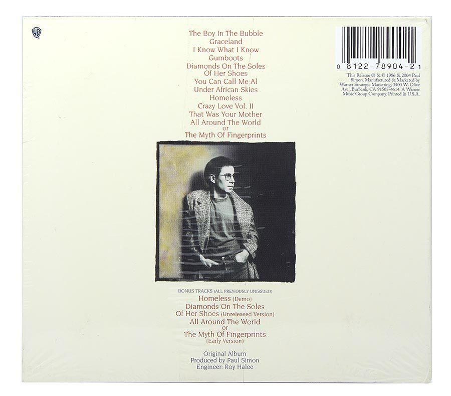 CD Paul Simon - Graceland - Digipack Importado - Lacrado