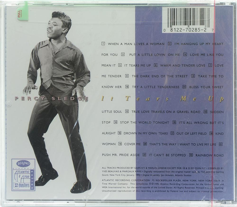 CD Percy Sledge - It Tears Me Up - Importado - Lacrado