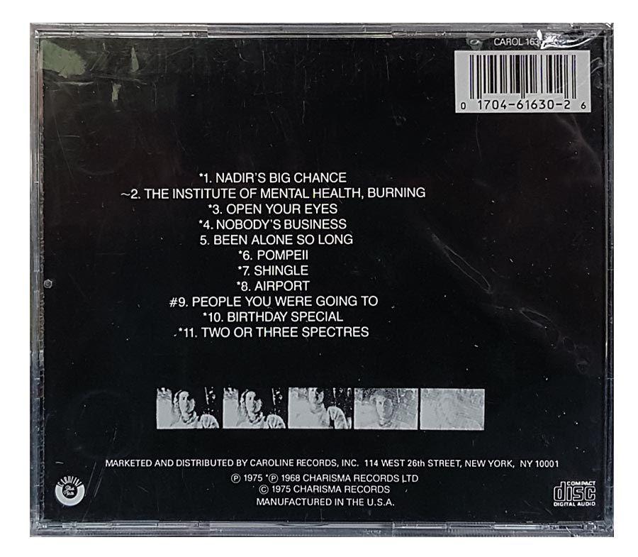 CD Peter Hammill - Nadirs Big Chance - Importado - Lacrado