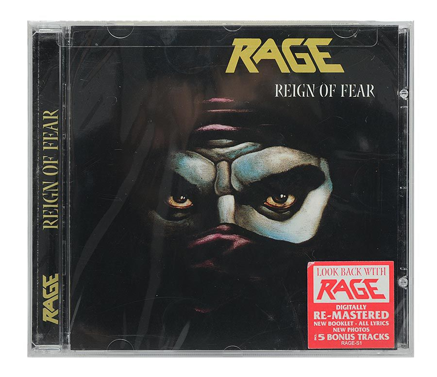 CD Rage - Reign Of Fear - Remastered / Bonus - Importado USA - Lacrado