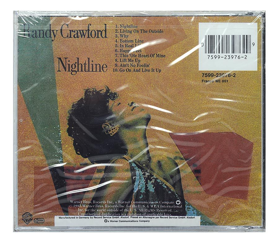 CD Randy Crawford - Nightline - Importado - Lacrado