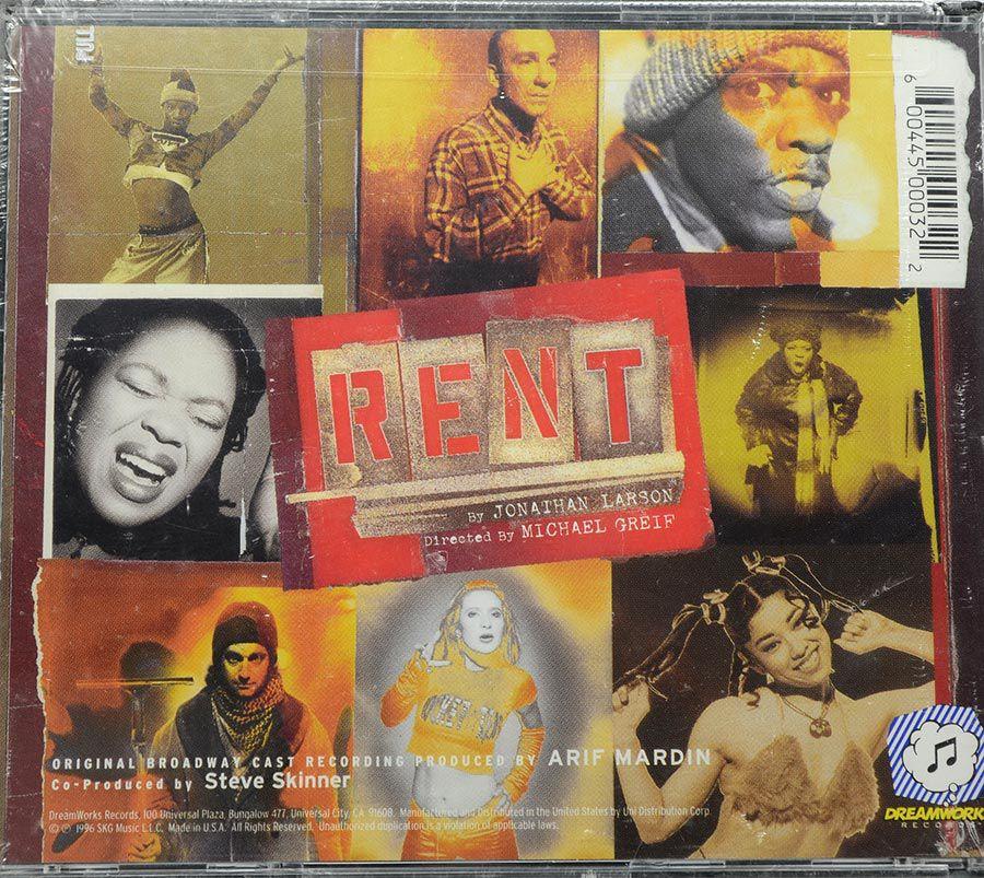 Cd Rent 1996 Original Broadway Cast - Lacrado - Importado