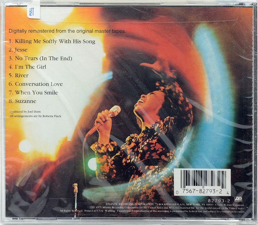 CD Roberta Flack - Killing Me Softly - Lacrado - Importado