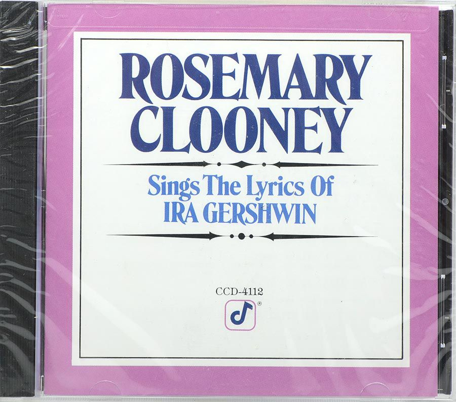CD Rosemary Clooney - Sings The Lyrics Of Ira Gershwin - Lacrado - Importado
