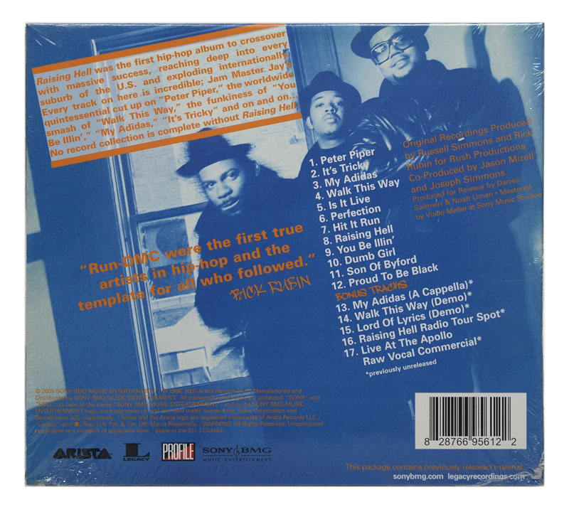 CD Run Dmc - Raising Hell - Limited Edition Deluxe (5 Bonus) - Digipack Importado EU - Lacrado