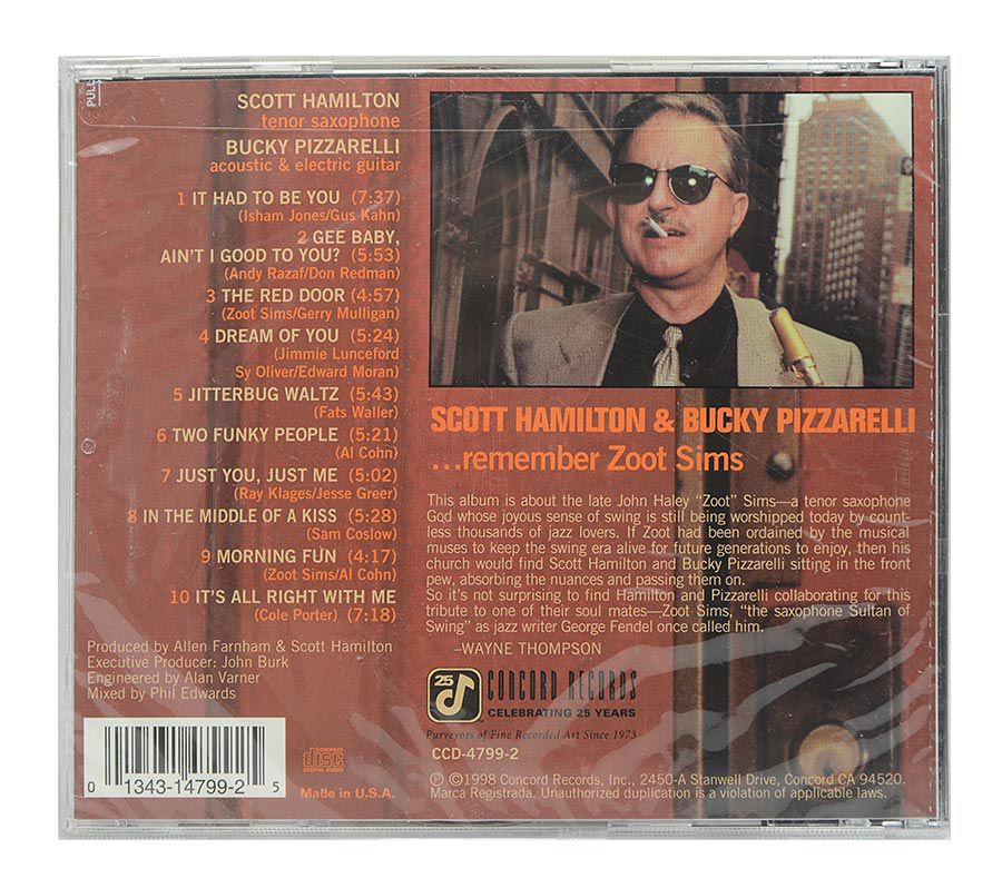 Cd Scott Hamilton & Buck Pizzarelli - The Red Door - Importado - Lacrado