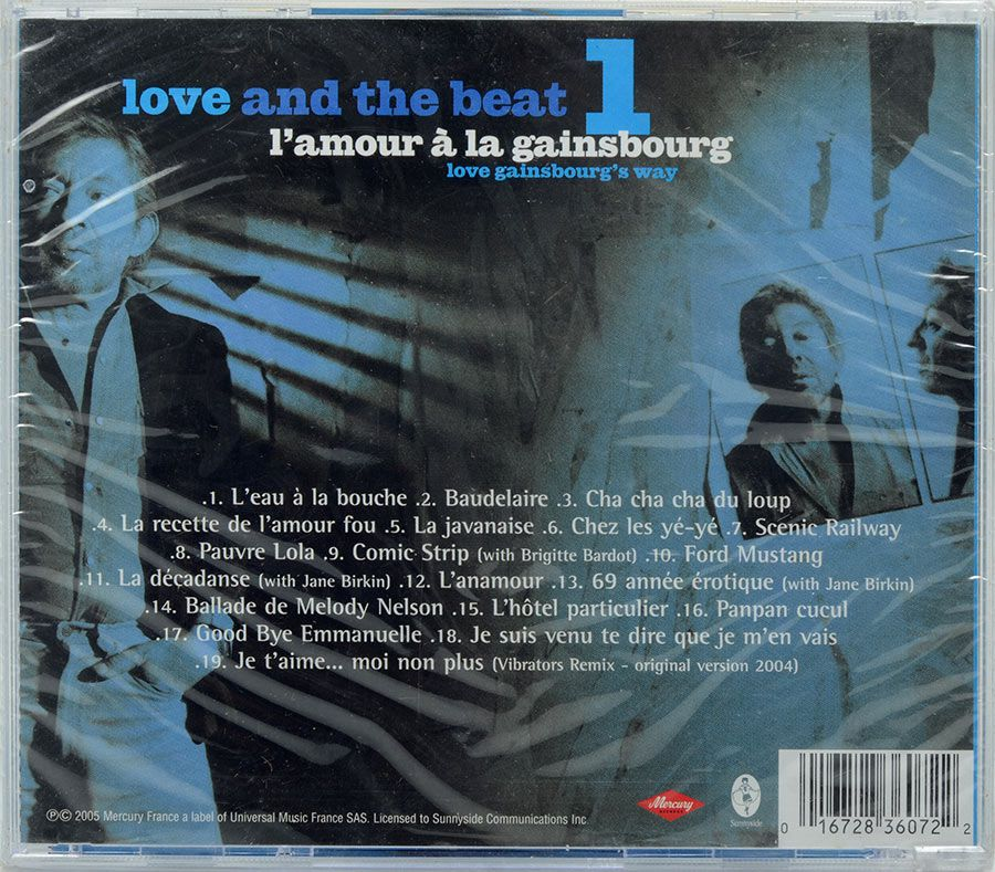 CD Serge Gainsbourg - Love And The Beat 1 - Lacrado - Importado