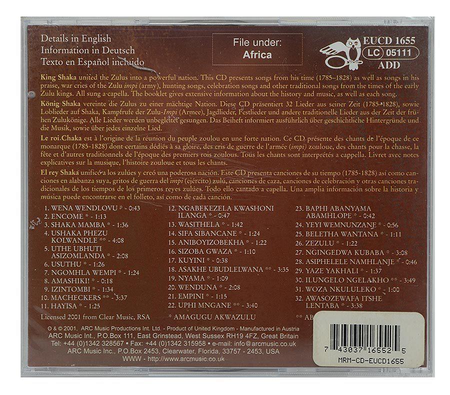 Cd Shaka Zulu - Songs Of King Shaka - Importado - Lacrado
