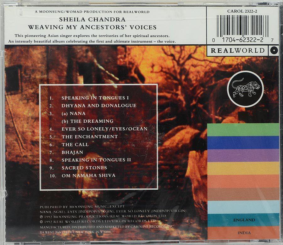 CD Sheila Chandra - Weaving My Ancestors Voices - Lacrado - Importado