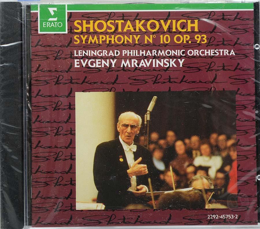 Cd Shostakovich - Symphony N 10 Op 93 Evgeny Mravinsky - Lacrado - Importado