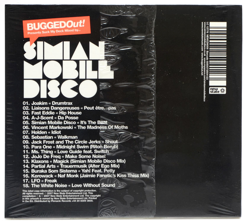 CD Simian Mobile Disco - Bugged Out! Presents Suck My Deck - Importado - Lacrado