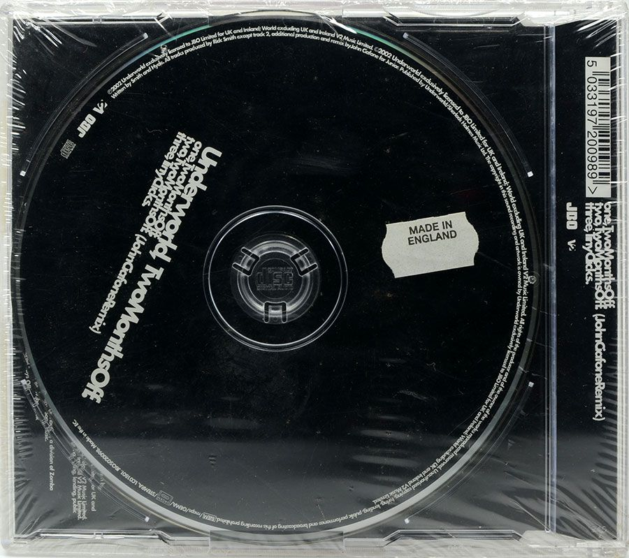CD Single Underworld - Two Months Off - Lacrado - Importado
