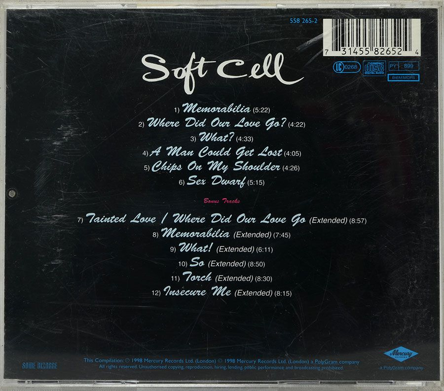 CD Soft Cell - Non Stop Ecstatic Dancing - Importado