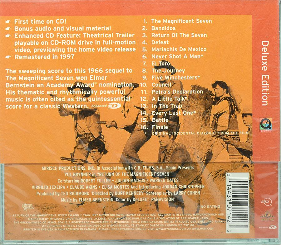 Cd Soundtrack Return Of The Magnificent Seven - Lacrado - Importado