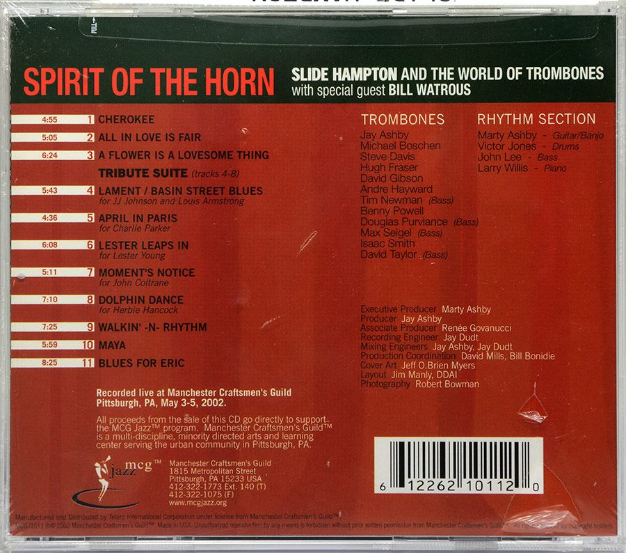 CD Spirit Of The Horn - Slide Hampton And The World Of Trombones - Lacrado - Importado
