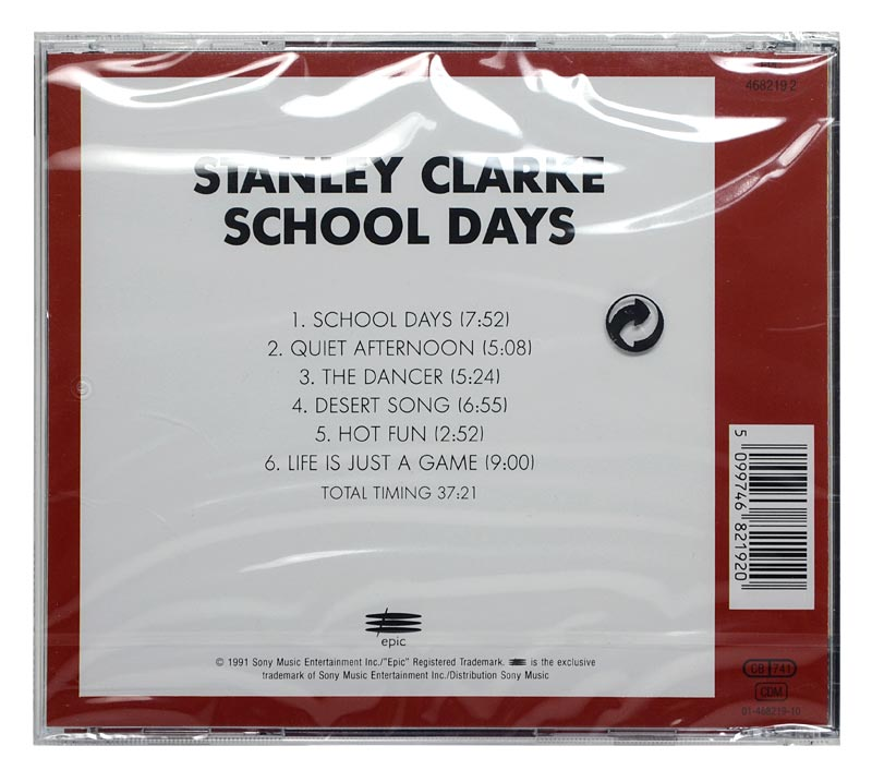 CD Stanley Clarke - School Days - Remastered - Importado - Lacrado