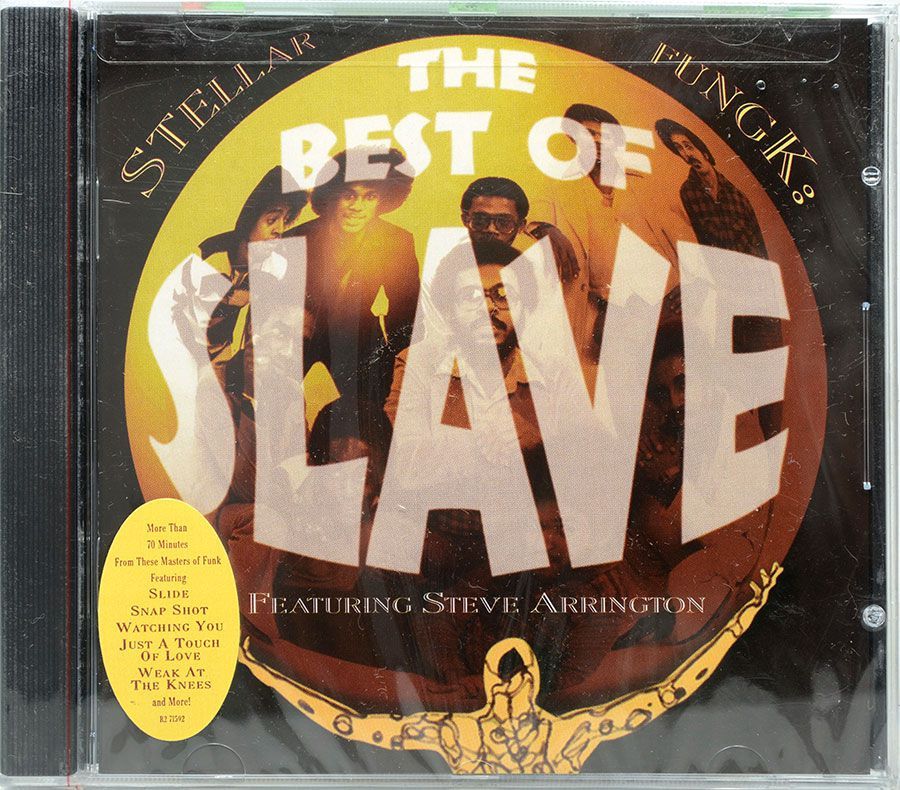 CD Stellar Fungk The Best Of Slave - Featuring Steve Arrington - Lacrado - Importado