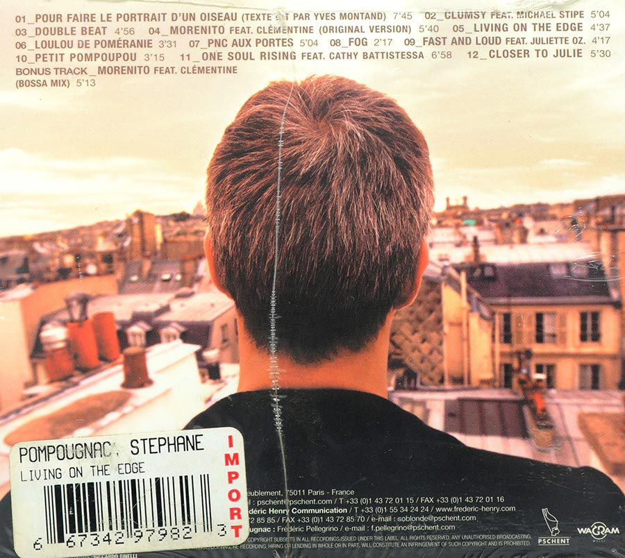 CD Stephane Pompougnac - Living On The Edge - Lacrado - Importado