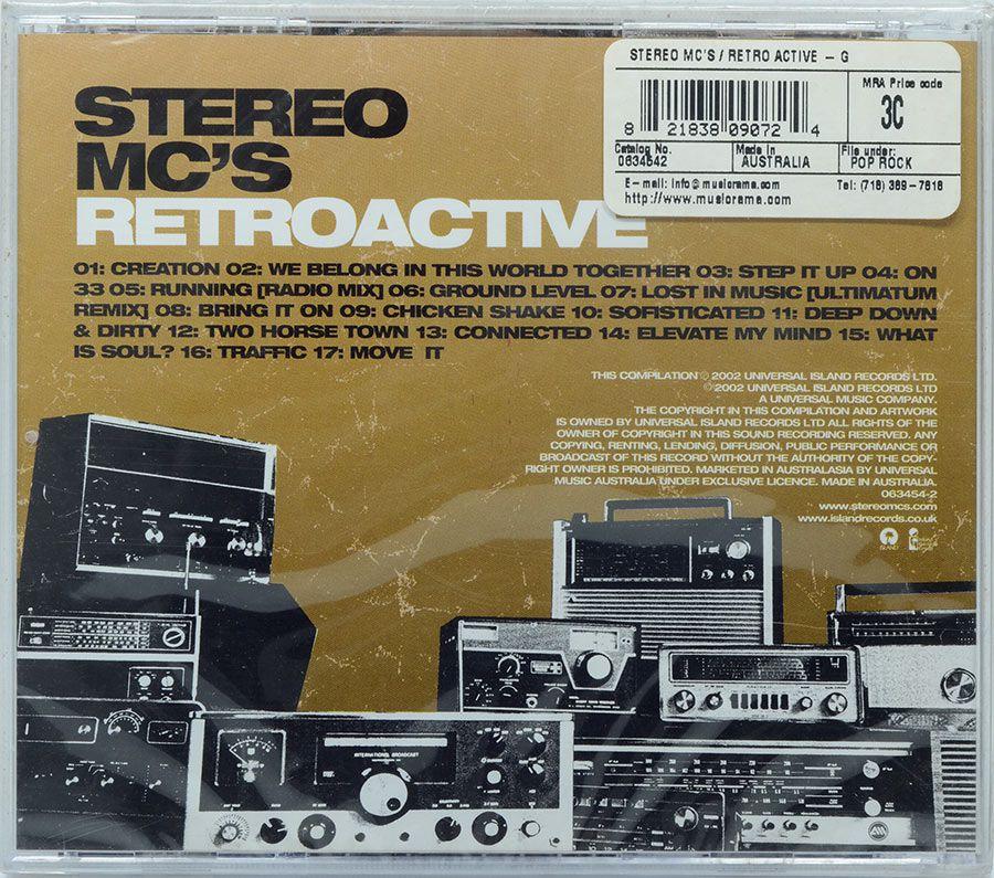 CD Stereo Mcs - Retroactive - Lacrado - Importado
