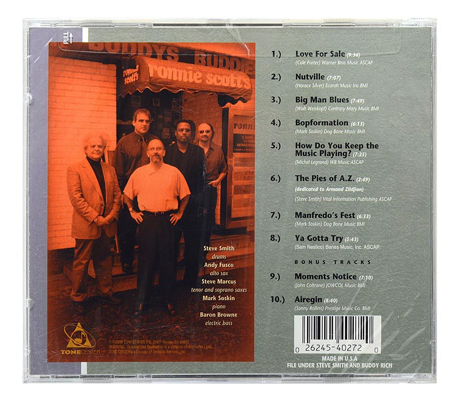 CD Steve Smith and Buddys Buddies - Very Live At Ronnie Scotts - Importado - Lacrado