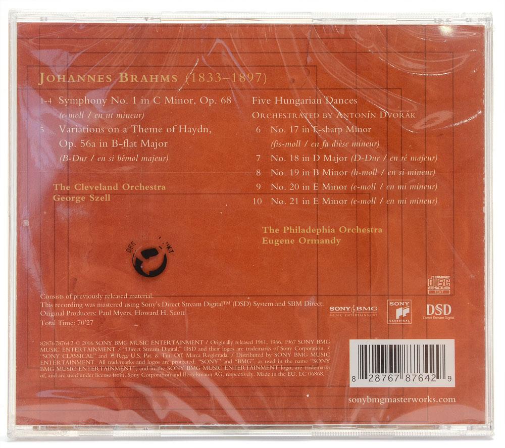 CD Szell - Brahms: Symphony No. 1 - Haydn Variations - Importado - Lacrado