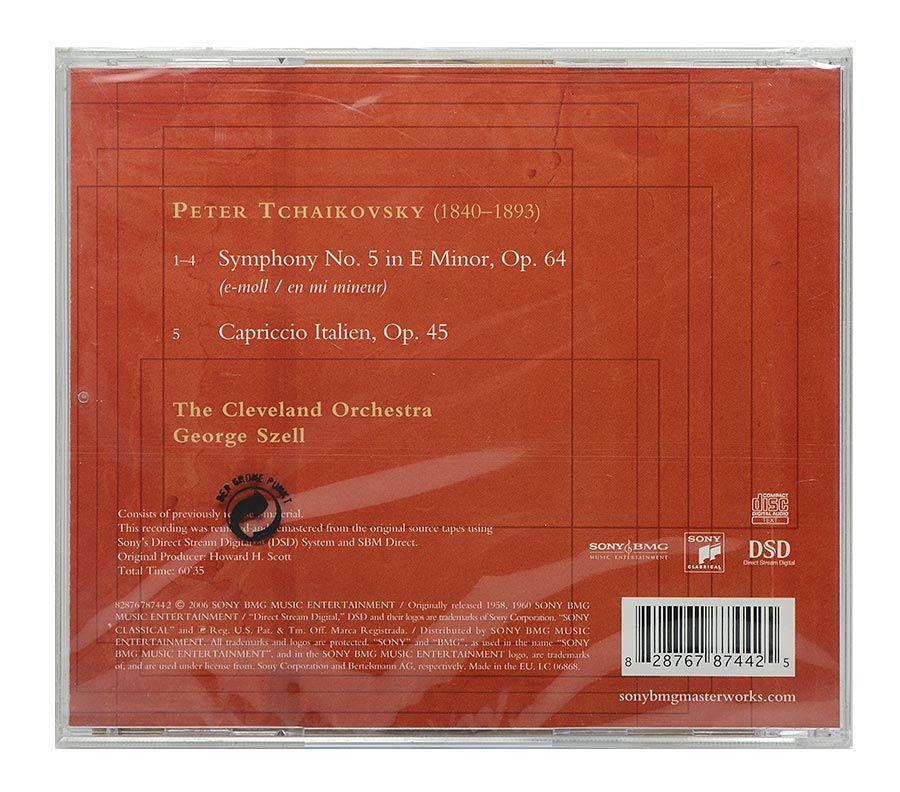 CD Szell - Tchaikovsky Symphony No. 5 / Capriccio Italien - Importado - Lacrado