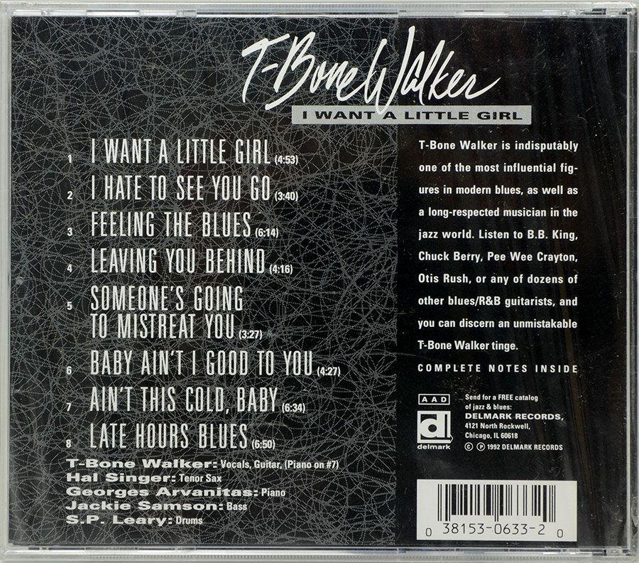 CD T-Bone Walker - I Want A Little Girl - Lacrado - Importado