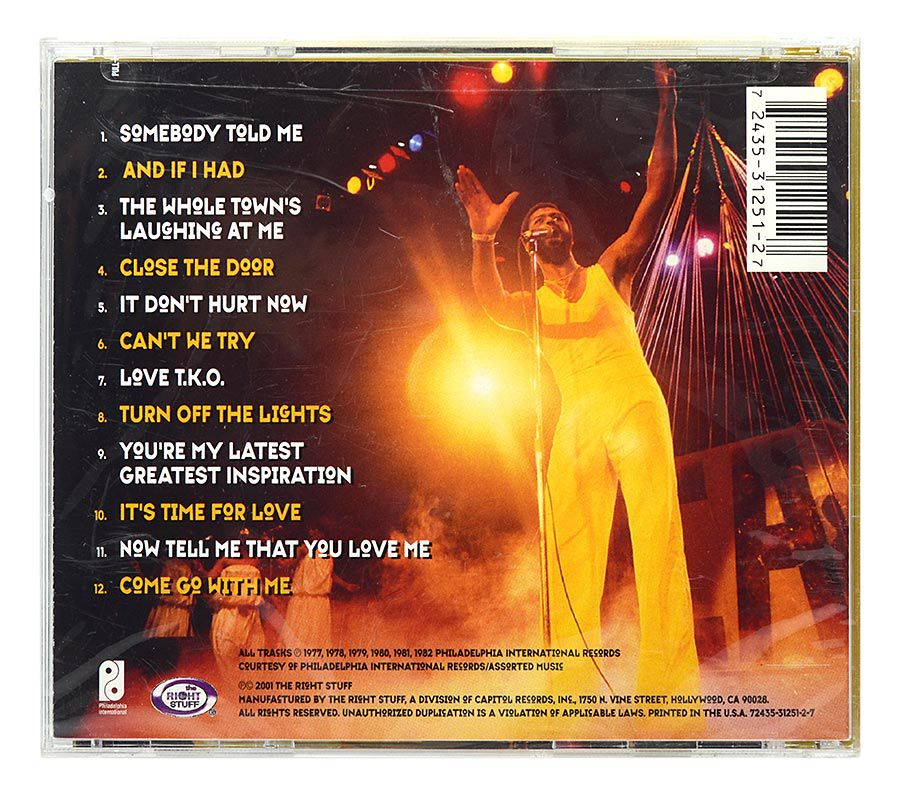 CD Teddy Pendergrass - Greatest Slow Jams - Importado - Lacrado