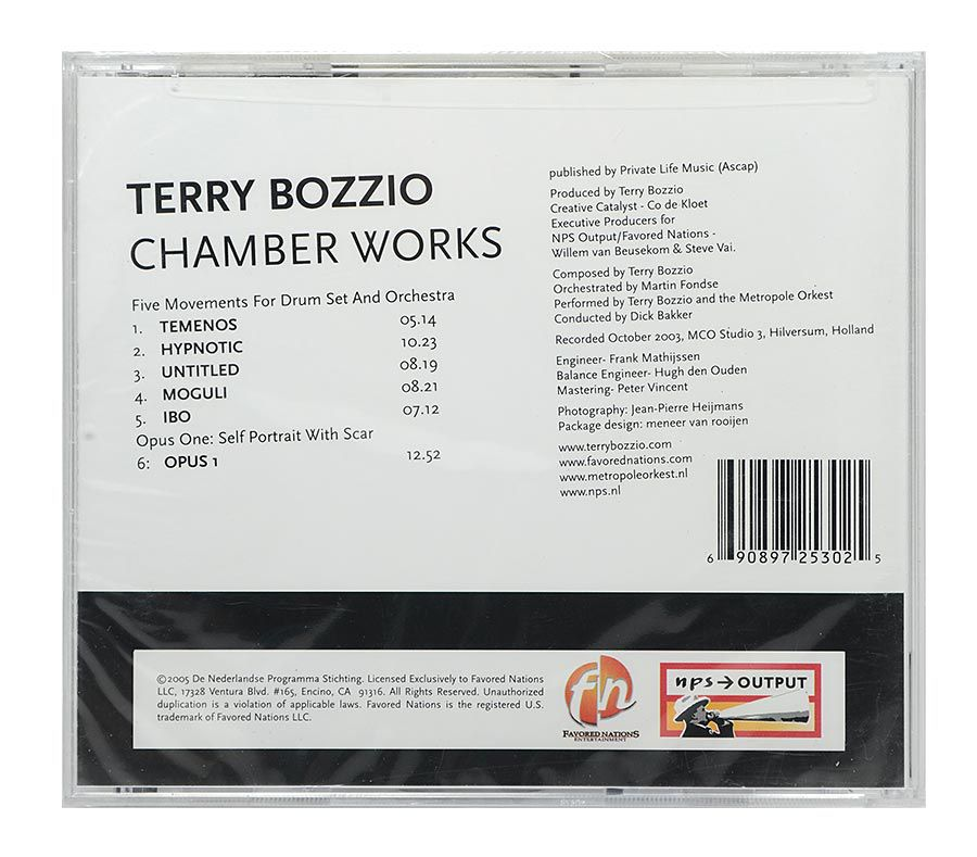 CD Terry Bozzio + Metropole - Chamber Works - Importado - Lacrado